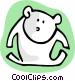 cartoon bear Vector Clip Art graphic