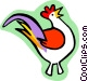 rooster Vector Clip Art graphic