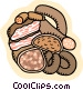 Food and dining/sausages Vector Clipart illustration