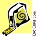 tape measure Vector Clip Art graphic