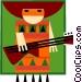 Latin style musician Vector Clip Art image