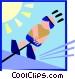 water skier Vector Clip Art image