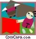 bullfighters Vector Clip Art graphic