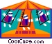 circus swing Vector Clipart graphic