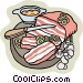 Food and dining baking Vector Clipart illustration