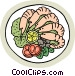 Shrimp cocktail Vector Clipart graphic