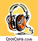 headphones Vector Clipart illustration