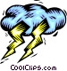 Weather/lightning Vector Clip Art image