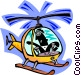 helicopter pilot Vector Clipart graphic