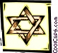 star of David Vector Clipart graphic