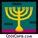 menorah Vector Clip Art picture
