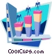 Business vertical markets Vector Clipart picture