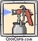 paint sprayer Vector Clip Art image