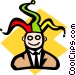 Businessman jester Vector Clip Art picture