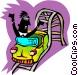 roller coaster rider Vector Clip Art image