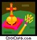 catholic symbols Vector Clip Art image