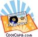 The Arts/Tape cassette Vector Clipart illustration