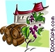 food and dining/winery Vector Clip Art picture