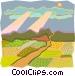 pastoral scene Vector Clip Art graphic
