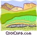 earth cross-section Vector Clipart picture