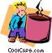 coffee fanatic Vector Clip Art image