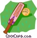 cricket bat and ball Vector Clipart picture