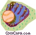 baseball glove with ball Vector Clip Art image