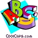 Education Letters of the Vector Clipart picture