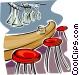 bar scene Vector Clipart picture