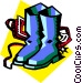 boots Vector Clipart graphic