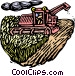 Woodcut combine Vector Clip Art graphic