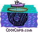 Commercial fishing boat Vector Clipart image