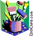 painting equipment Vector Clipart image