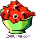 pot of flowers Vector Clip Art graphic