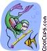 scuba diver Vector Clipart image