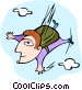 skydiver Vector Clip Art picture