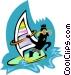 windsurfer Vector Clip Art image