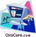 PC presentation Vector Clip Art image