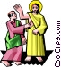 Jesus with Thomas Vector Clipart image