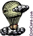 Balloon with passengers Vector Clipart image