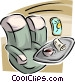 Passenger seats on a plane Vector Clip Art picture