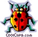 stylized ladybug Vector Clip Art picture