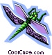 stylized dragonfly Vector Clipart illustration