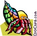 stylized crab Vector Clip Art picture
