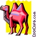 stylized dromedary Vector Clipart picture