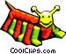 stylized bug Vector Clip Art image