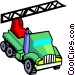 crane truck Vector Clip Art graphic