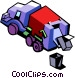 garbage truck Vector Clipart graphic