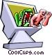 online dangers Vector Clip Art picture