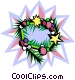 Christmas wreath Vector Clipart picture